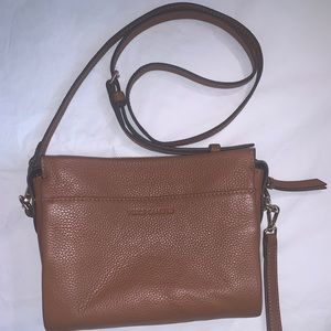 Vince Camilo Tan Leather Crossbody Purse